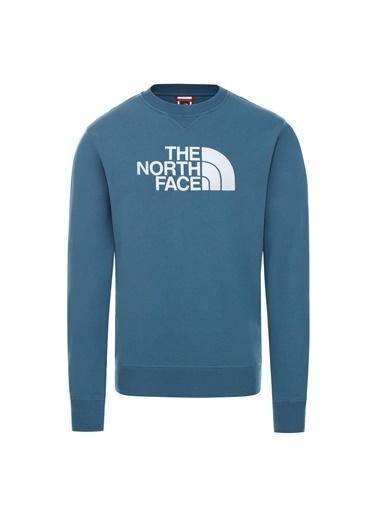 The North Face Drew Peak Crew Erkek Sweatshirt Mavi Mavi